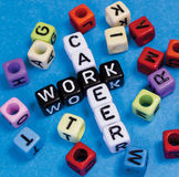 Career or Work. Puzzle words concept royalty free stock image
