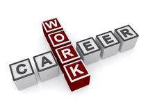 Career work text Royalty Free Stock Photo