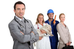 Careers. Four different future career prospects Royalty Free Stock Photos