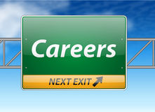 Careers Freeway Exit Sign Stock Images
