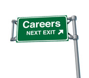 Careers Freeway Exit Sign highway street Stock Photo
