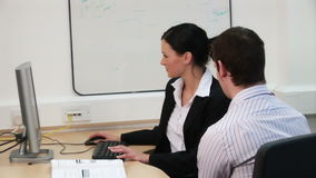 Careers Issues in Business stock footage
