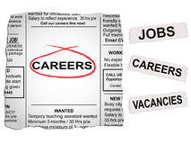 Careers Newspaper Royalty Free Stock Image