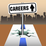 Careers plate Royalty Free Stock Photography