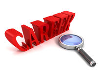 Careers Search with a magnifying glass Royalty Free Stock Image
