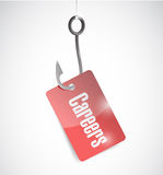 Careers tag and fishing hook illustration design Stock Photo