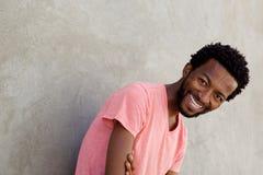 Carefree african american man laughing. Portrait of carefree african american man laughing Stock Photos
