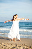 Carefree Beach couple Stock Image
