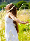 Carefree beauty Stock Images