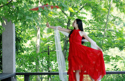 Carefree beauty dancing, healthy living concept, pure happiness and freedom Stock Photo