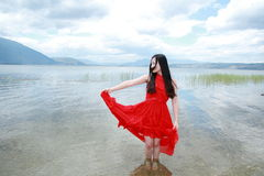 Carefree beauty enjoy free time, healthy living concept, pure happiness and freedom Royalty Free Stock Images