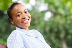 Carefree black woman Stock Photo