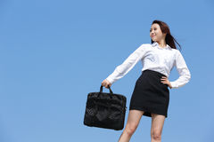Carefree business woman Stock Images