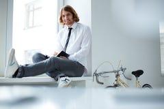 Carefree businessman Stock Image