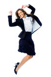 Carefree businesswoman jump Royalty Free Stock Photos