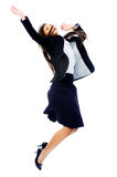 Carefree businesswoman jump Royalty Free Stock Photography