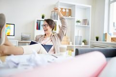 Carefree Businesswoman royalty free stock photography