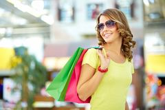 Carefree buyer Royalty Free Stock Images