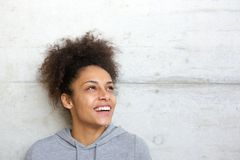 Carefree cheerful young african american woman Stock Photos