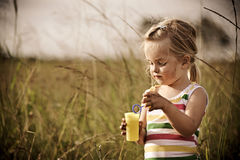 Carefree child outdoors Stock Image