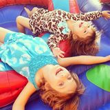 Carefree childhood moment Stock Photography