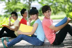 Carefree classmates Royalty Free Stock Photos