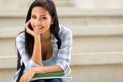 Carefree college girl Stock Image