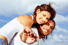 Carefree Couple Royalty Free Stock Image
