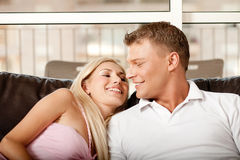 Carefree couple relaxing Stock Images