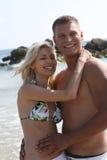 Carefree couple smiling Stock Image