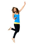 Carefree dancer Stock Photo
