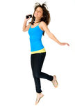 Carefree dancer Stock Photography