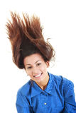 Carefree elegant woman tossing her hair Royalty Free Stock Photos