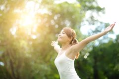 Carefree and free woman Royalty Free Stock Photo