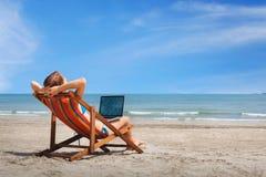 Carefree freelance job Royalty Free Stock Image