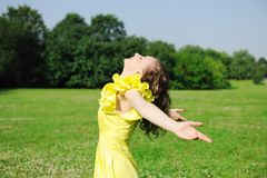Carefree girl Royalty Free Stock Images