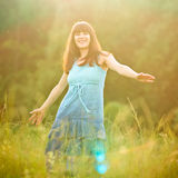 Carefree girl Royalty Free Stock Photos