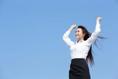 carefree kvinna för affär arkivfoton