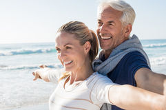Carefree mature couple Stock Images