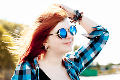 Carefree  red hair young woman  Stock Photography