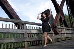 carefree running för bris Royaltyfri Bild