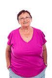 Carefree senior woman Royalty Free Stock Photo