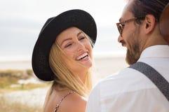 carefree skratta kvinna Royaltyfri Fotografi