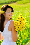 Carefree spring girl Royalty Free Stock Images