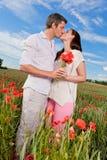 Carefree sunda par fotografering för bildbyråer