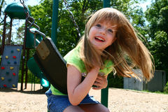 Carefree on a swing Royalty Free Stock Photos