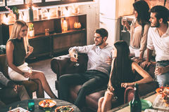 Carefree time with friends. Royalty Free Stock Photography