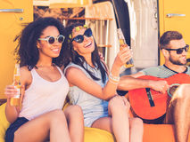 Carefree time with friends. Royalty Free Stock Images
