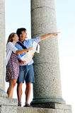 Carefree tourist travel Stock Photo