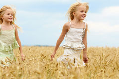 Carefree twins Royalty Free Stock Photography